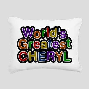 Worlds Greatest Cheryl Rectangular Canvas Pillow