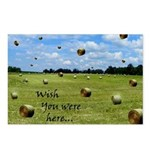 Country Farmer Hay Bails Flying Postcards (Package