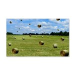 Country Farmer Hay Bails Flying 20x12 Wall Decal