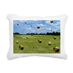 Country Farmer Hay Bails Flying Rectangular Canvas