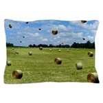 Country Farmer Hay Bails Flying Pillow Case