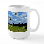 Country Farmer Hay Bails Flying Large Mug