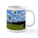 Country Farmer Hay Bails Flying Mug