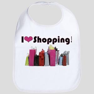 I Love Shopping Bib