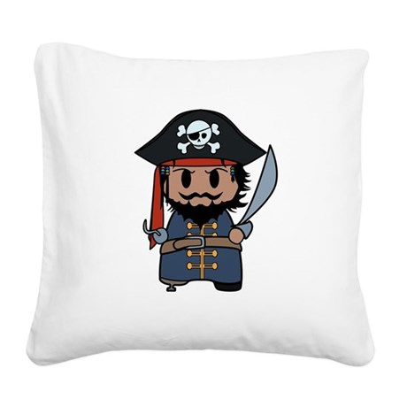 pirate Square Canvas Pillow