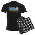 Country Farmer Hay Bails Flying Men's Dark Pajamas