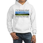 Country Farmer Hay Bails Flying Hooded Sweatshirt