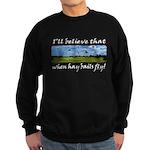 Country Farmer Hay Bails Flying Sweatshirt (dark)