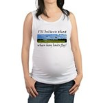 Country Farmer Hay Bails Flying Maternity Tank Top