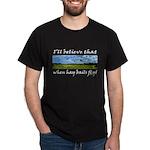Country Farmer Hay Bails Flying Dark T-Shirt