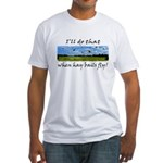 Country Farmer Hay Bails Flying Fitted T-Shirt