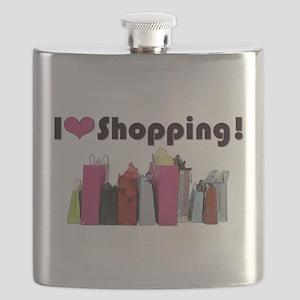 I Love Shopping Flask