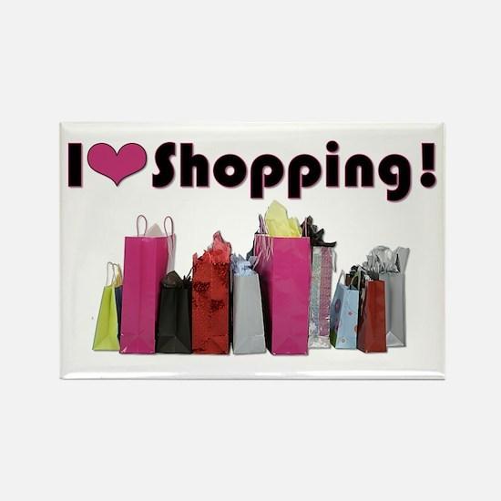 I Love Shopping Rectangle Magnet (10 pack)