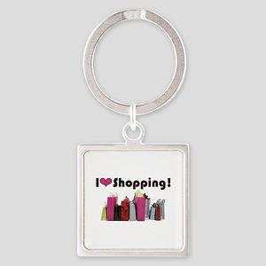 I Love Shopping Keychains