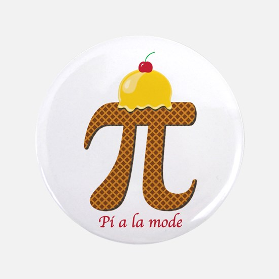 "Pi a la mode 3.5"" Button (100 pack)"