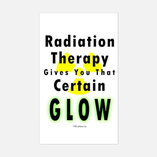 Radiation Glow Sticker (Rect.)