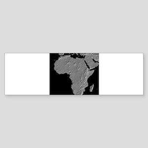Africa Relief Map Bumper Sticker