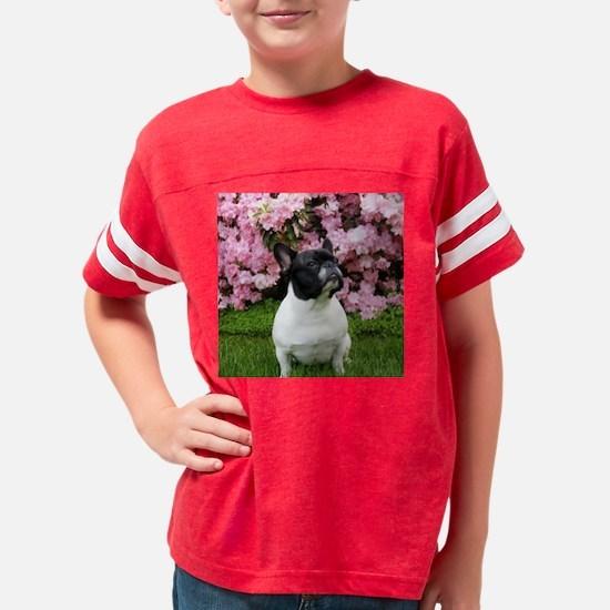 frenchieflowerstile Youth Football Shirt