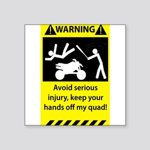 Quad Warning Sticker