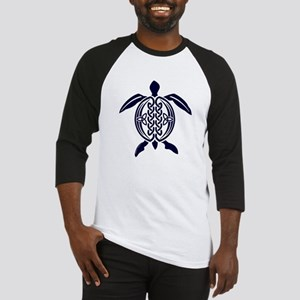 Blue Celtic Turtle Baseball Jersey