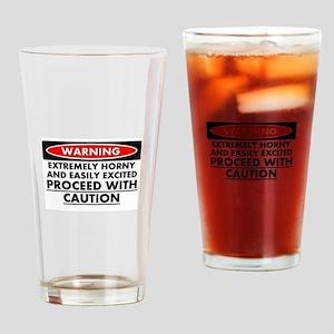Warning Drinking Glass