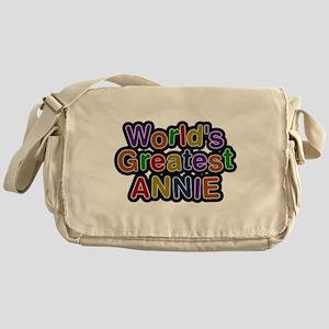 Worlds Greatest Annie Messenger Bag