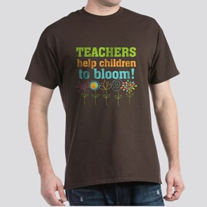 Teachers Help Children Bloom Dark T-Shirt
