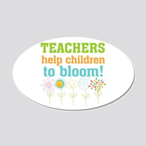 Teachers Help Children Bloom 20x12 Oval Wall Decal