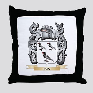Iain Coat of Arms - Family Crest Throw Pillow
