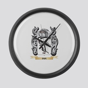 Iain Coat of Arms - Family Crest Large Wall Clock