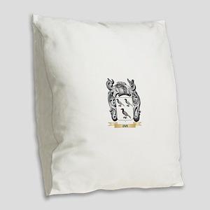 Iain Coat of Arms - Family Cre Burlap Throw Pillow