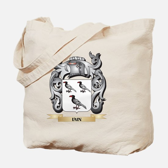 Iain Coat of Arms - Family Crest Tote Bag