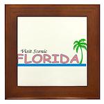 Visit Scenic Florida Framed Tile