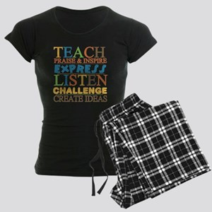 Teacher Creed Women's Dark Pajamas