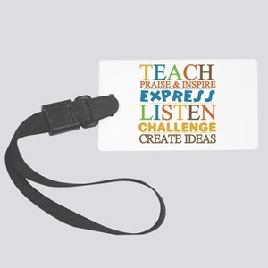 Teacher Creed Large Luggage Tag