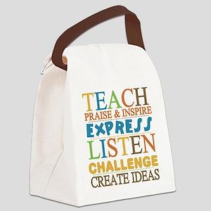 Teacher Creed Canvas Lunch Bag