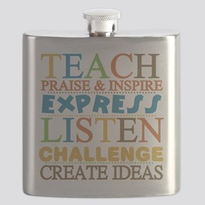 Teacher Creed Flask