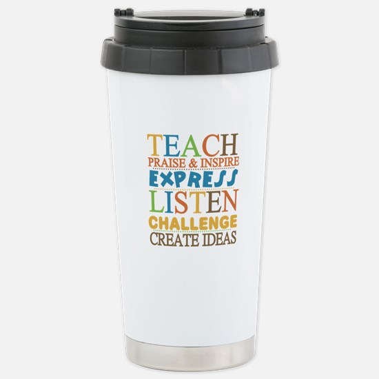 Teacher Creed Stainless Steel Travel Mug