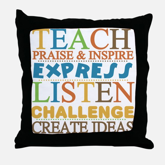 Teacher Creed Throw Pillow