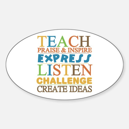 Teacher Creed Sticker (Oval)