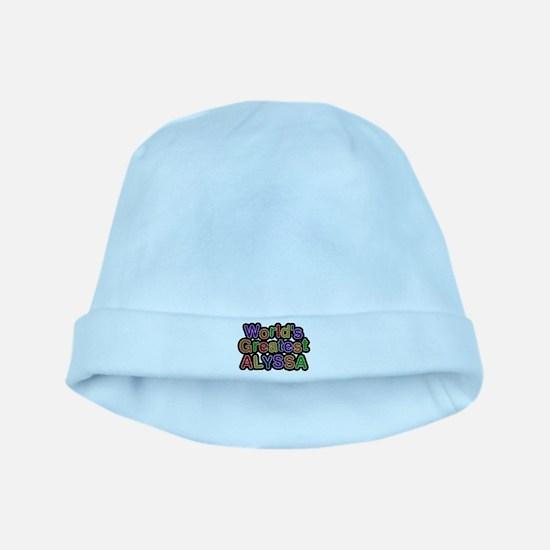 Worlds Greatest Alyssa baby hat