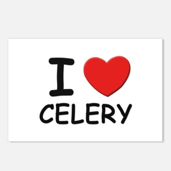 I love celery Postcards (Package of 8)