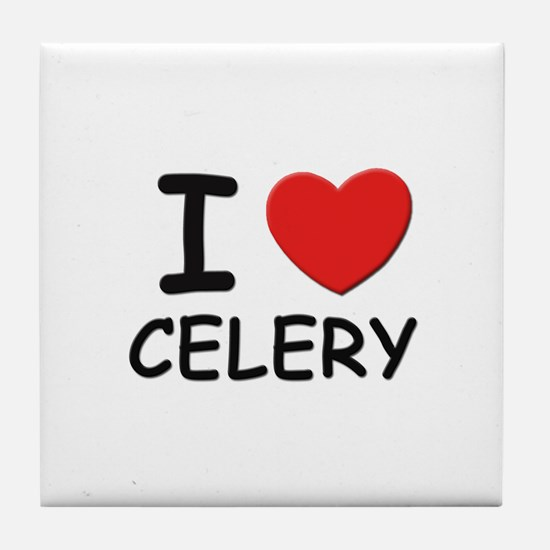 I love celery Tile Coaster