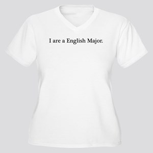 English Major Women's Plus Size V-Neck T-Shirt