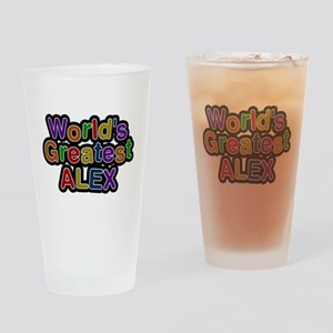 Worlds Greatest Alex Drinking Glass