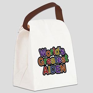 Worlds Greatest Aiden Canvas Lunch Bag