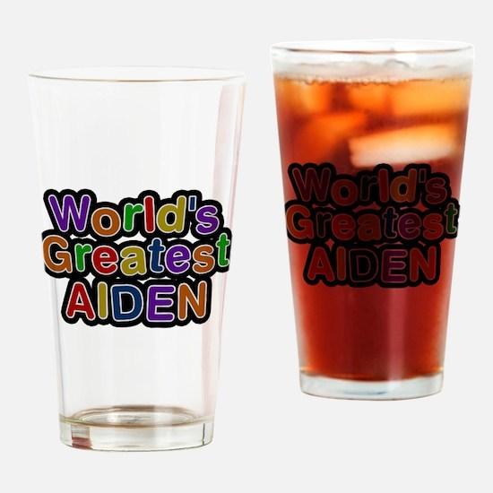 Worlds Greatest Aiden Drinking Glass