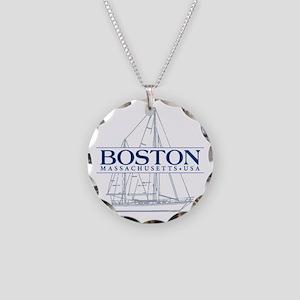 Boston - Necklace Circle Charm