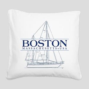 Boston - Square Canvas Pillow
