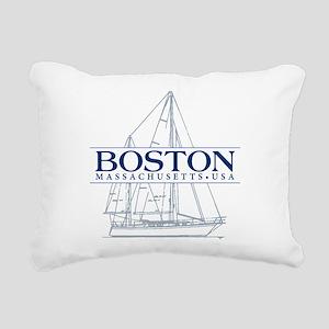 Boston - Rectangular Canvas Pillow